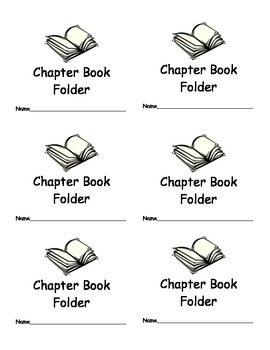 Chapter Book Folder Labels for Classroom Organization Classroom Management
