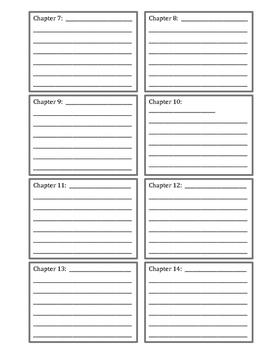 Chapter Book: Graphic Organizer