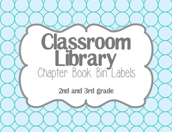 Chapter Book Library Labels