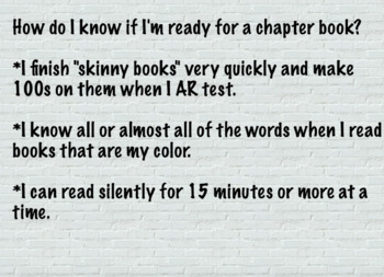 Chapter Book Readiness Flipchart
