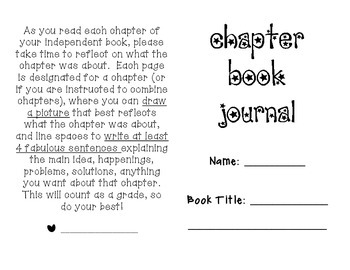 Chapter Book Reflection Journal