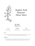 Chapter Book Response Choice Menu