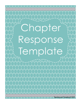 Chapter Book Response Template