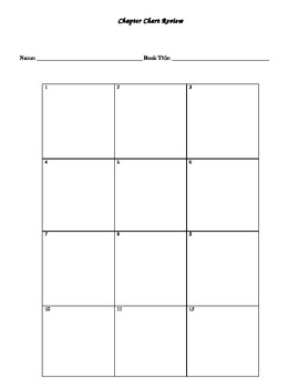 Chapter Book Review Worksheet-Short