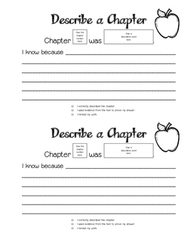 Chapter Book Study *USE WITH ANY CHAPTER BOOK!*