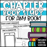 Chapter Book Study - Reading Response Sheets for ANY book for Distance Learning