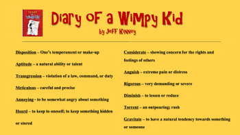 Diary of a Wimpy Kid and More (Vocabulary Posters)