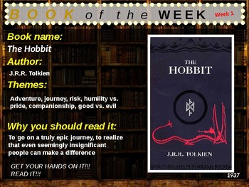 Chapter Book of the Week - 36 books (4th-8th grade)