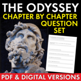Odyssey, Homer, Chapter-By-Chapter Study Guide Worksheets with Key