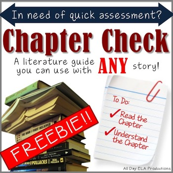Chapter Check- A *FREE* Literature Guide for Comprehension!