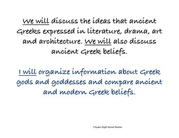 Chapter Eight Social Studies Framing the Lesson Greek Civilization