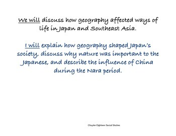 Chapter Eighteen Social Studies Framing the Lesson Civil. of Korea and Japan