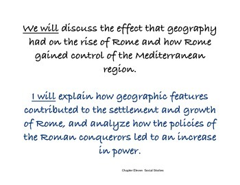 Chapter Eleven Social Studies Framing the Lesson Rome
