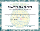 Chapter FFA Degree Certificate