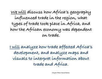 Chapter Fifteen Social Studies Framing the Lesson African