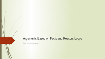 Chapter Four PowerPoint Everything's an Argument