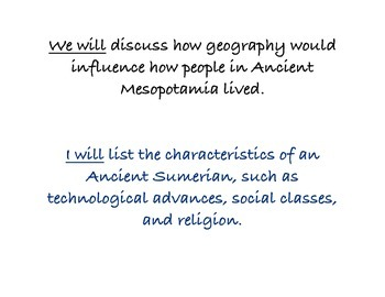 Chapter Four Social Studies Framing the Lessons Mesopotamia