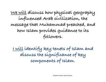 Chapter Fourteen Social Studies Framing the Lesson Islamic