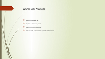 Chapter One PowerPoint Everything's an Argument
