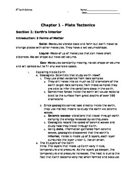 """Chapter Outlines Accompanying  Pearson's """"Inside Earth"""" Textbook"""