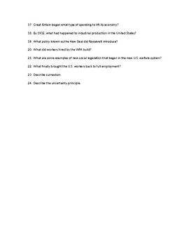 Chapter Questions CH 10, LESSON 1 McGraw Hill IMPACT: The Modern World