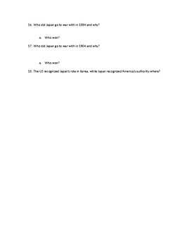 Chapter Questions CH 8, LESSON 3 McGraw Hill IMPACT: The Modern World