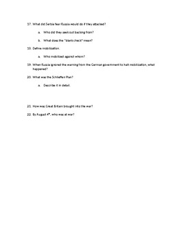 Chapter Questions CH 9, LESSON 2 McGraw Hill IMPACT: The Modern World