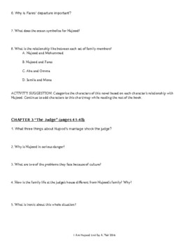 Chapter Questions for I Am Nujood