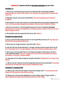 "Chapter Questions for Yolen's ""Devil's Arithmetic"""