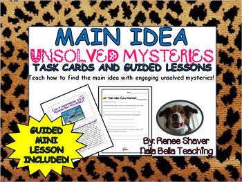 Free Main Idea Lesson Unsolved Mysteries