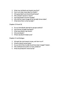 Chapter Questions from the novel Chasing Lincoln's Killer