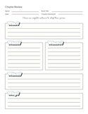 Chapter Review Worksheet