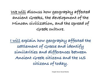 Chapter Seven Social Studies Framing the Lesson The Ancient Greeks