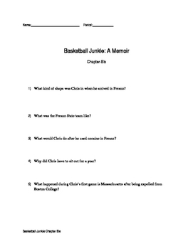 Chapter Six Questions Basketball Junkie By: Chris Herren