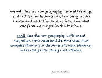 Chapter Sixteen Social Studies Framing the Lesson The Americas