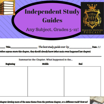 Chapter Study Guide and Review Notes: Student Led Discussion Quiz Alternative