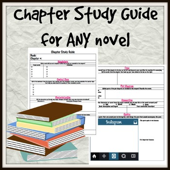 Chapter Study Guide for ANY fiction novel