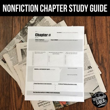 Chapter Study Guides {Non-Fiction}: DURING Reading Activity for ANY Book!