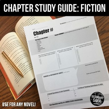 chapter study guides student led notes discussion for any novel rh teacherspayteachers com Exanple Novel Study Novel Study Cartoon