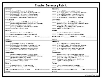 Chapter Summaries: A Novel Study Activity