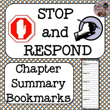 Chapter Summary Bookmarks (Stop and Respond)