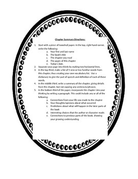 Chapter Summary Instructions