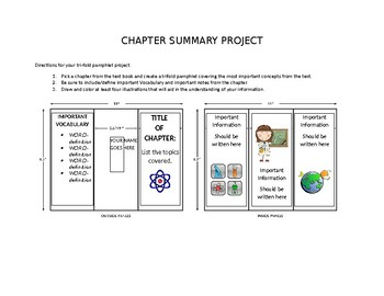 Chapter Summary Project