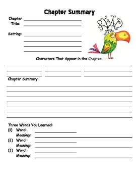How to write a summary for kids template