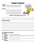 Chapter Summary Worksheet Template