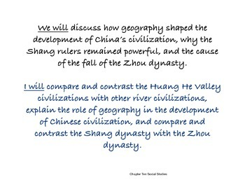 Chapter Ten Social Studies Framing the Lesson Early China