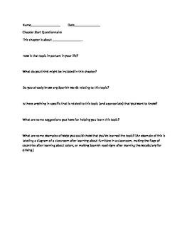 Chapter Test Survey