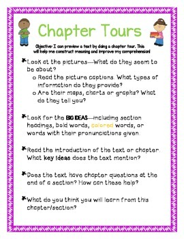 Chapter Tours - Anchor Chart