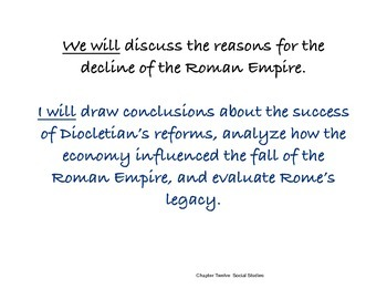 Chapter Twelve Social Studies Framing the Lesson Roman Civilization