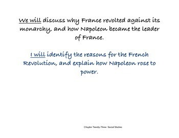 Chapter Twenty-Three Social Studies Framing the Lesson Political Revolution